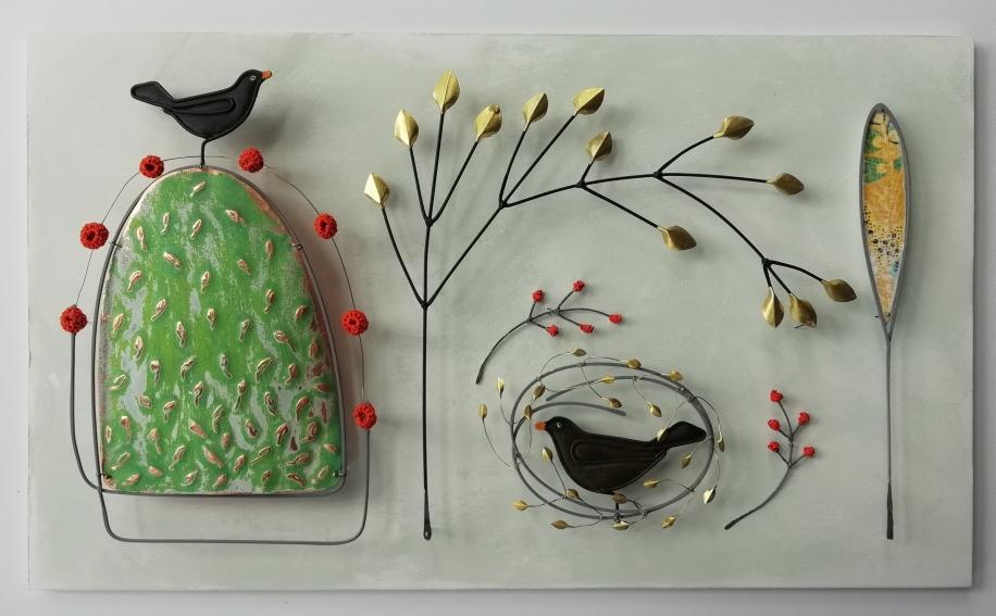 Black-birds-nesting (£135) 18 x 28 cm