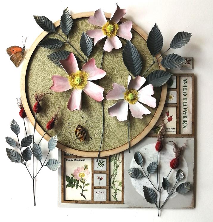 Dog-rose (£185) 34 x 34 cm